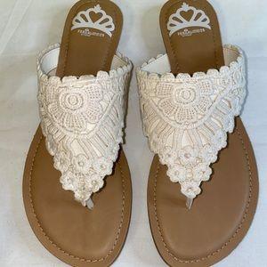 Fergalicious Women's Flat Sandal Size 8.5